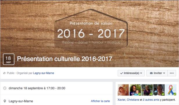 Saison culturelle 2016:2017